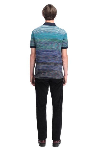 MISSONI Men's polo Azure Man - Front