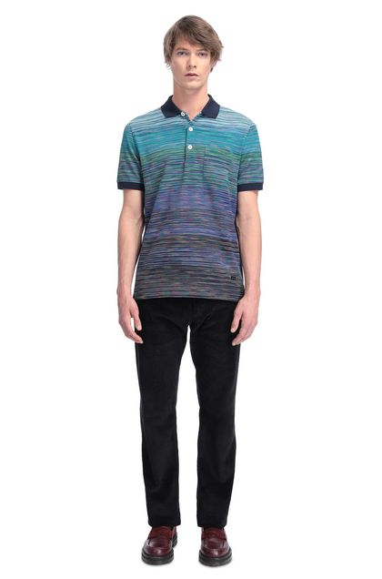 MISSONI Men's polo Azure Man - Back