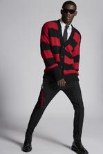DSQUARED2 Striped Alpaca Cardigan Pullover Man
