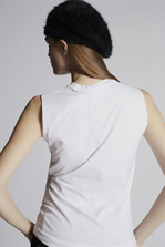 DSQUARED2 Dan Vicious Sleeveless T-Shirt Top Woman