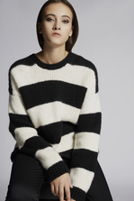 DSQUARED2 Striped Aplaca Pullover Pullover Woman