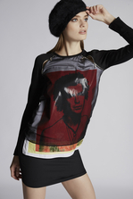 DSQUARED2 Silk Chiffon Hidden Dan Vicious Long Sleeves Top Top Woman