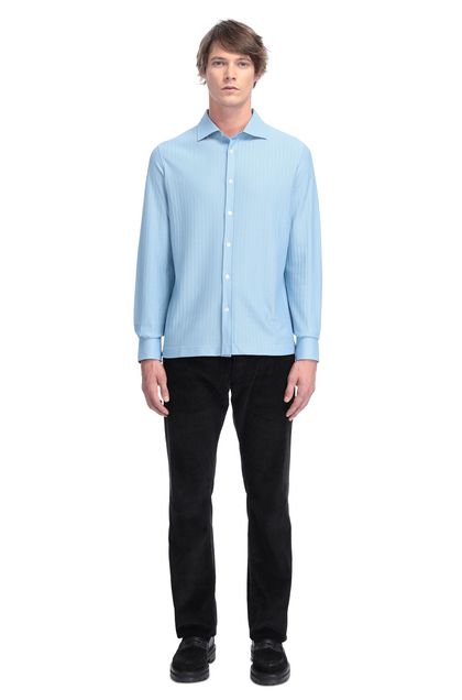MISSONI Men's shirts Pastel blue Man - Back