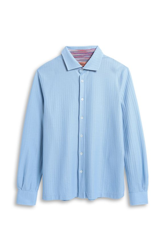 MISSONI Men's shirts Pastel blue Man