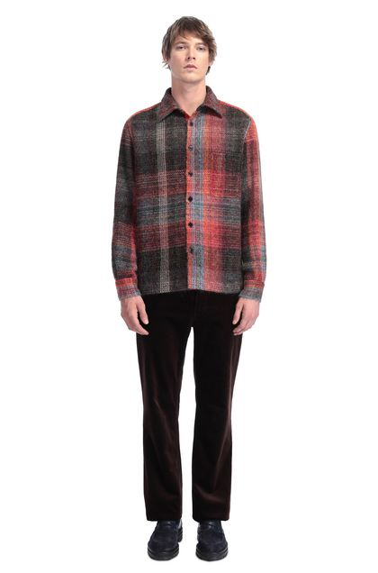MISSONI Men's shirts Brick red Man - Back