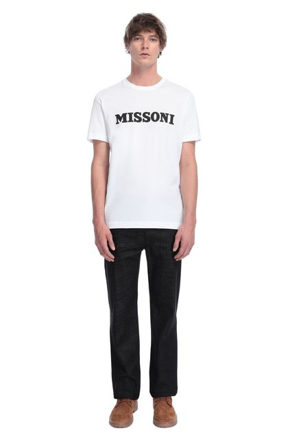 MISSONI Men's T-Shirts White Man - Back