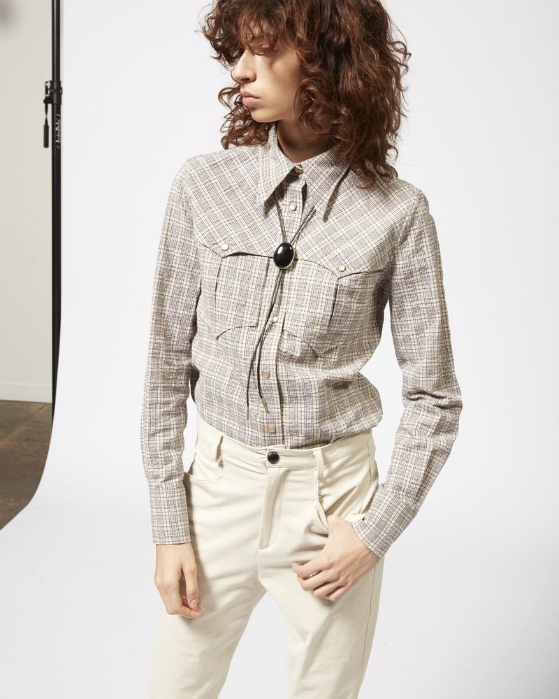 RIANA checked shirt ISABEL MARANT