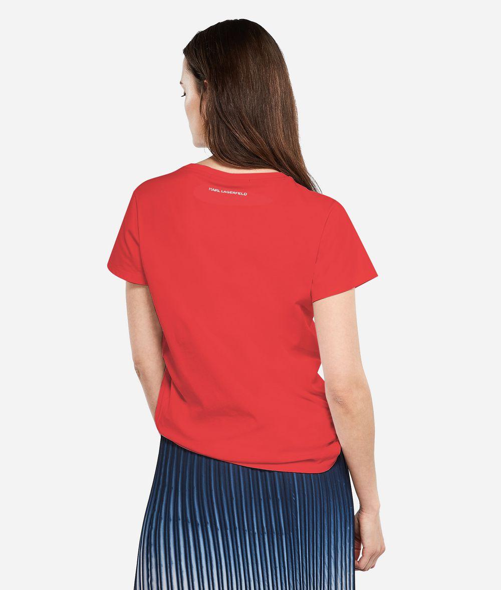 KARL LAGERFELD K/Tokyo Logo Patch T-Shirt T-shirt Woman d