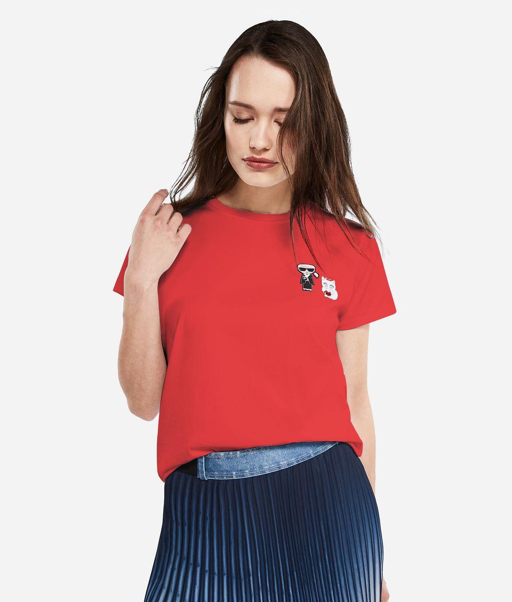 KARL LAGERFELD K/Tokyo Logo Patch T-Shirt T-shirt Woman f