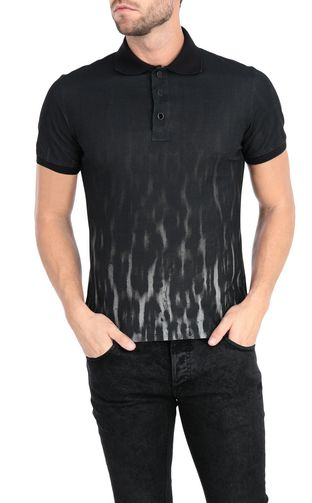 JUST CAVALLI Polo shirt Man Nuanced leopard-print polo shirt f
