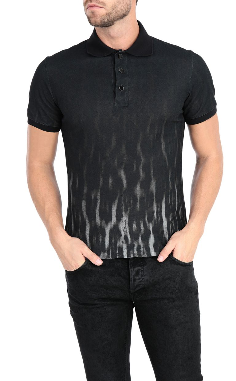 JUST CAVALLI Nuanced leopard-print polo shirt Polo shirt Man f