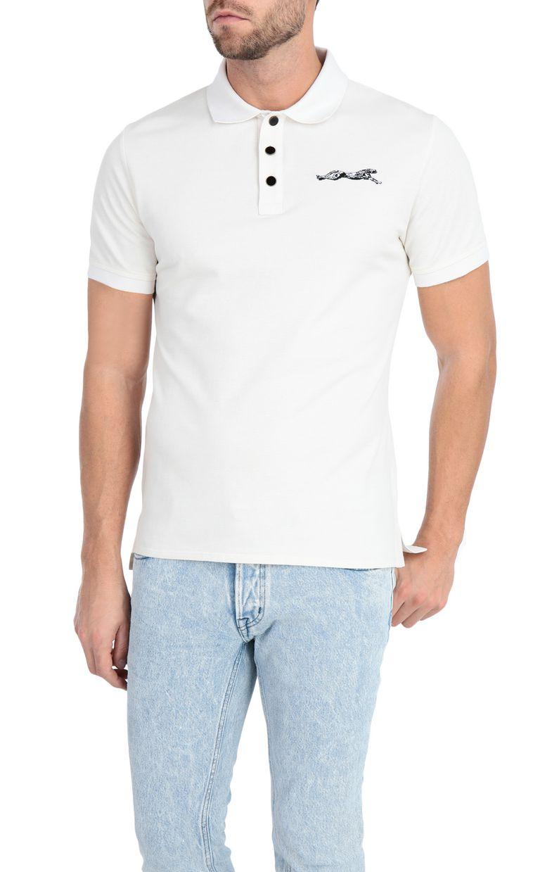 JUST CAVALLI Plain polo shirt with cheetah Polo shirt Man f