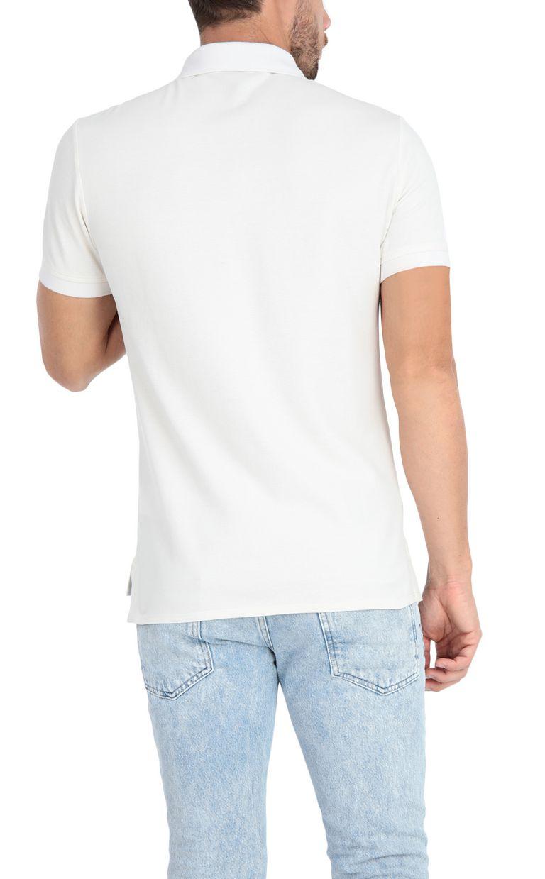 JUST CAVALLI Plain polo shirt with cheetah Polo shirt Man r