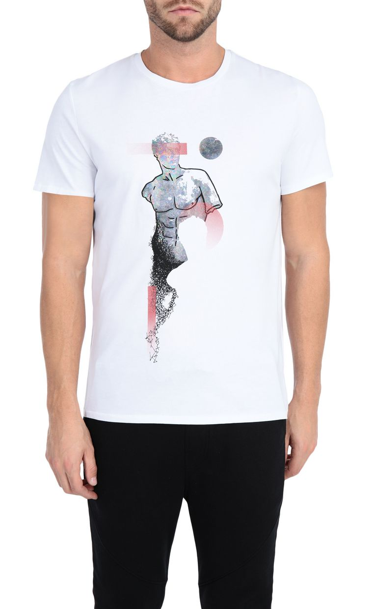 JUST CAVALLI T-shirt with sculpture print design Short sleeve t-shirt Man f