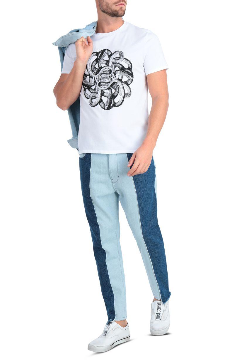 JUST CAVALLI White animal-print t-shirt Short sleeve t-shirt Man d