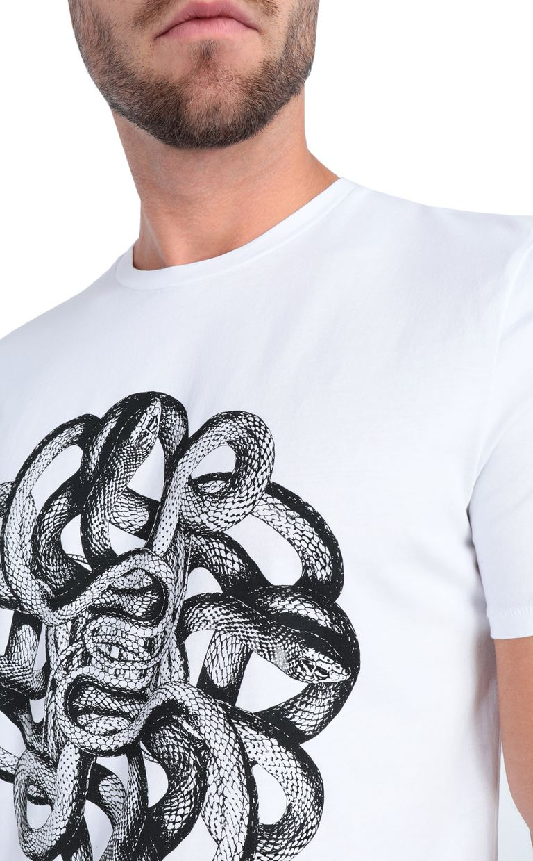 JUST CAVALLI White animal-print t-shirt Short sleeve t-shirt Man e