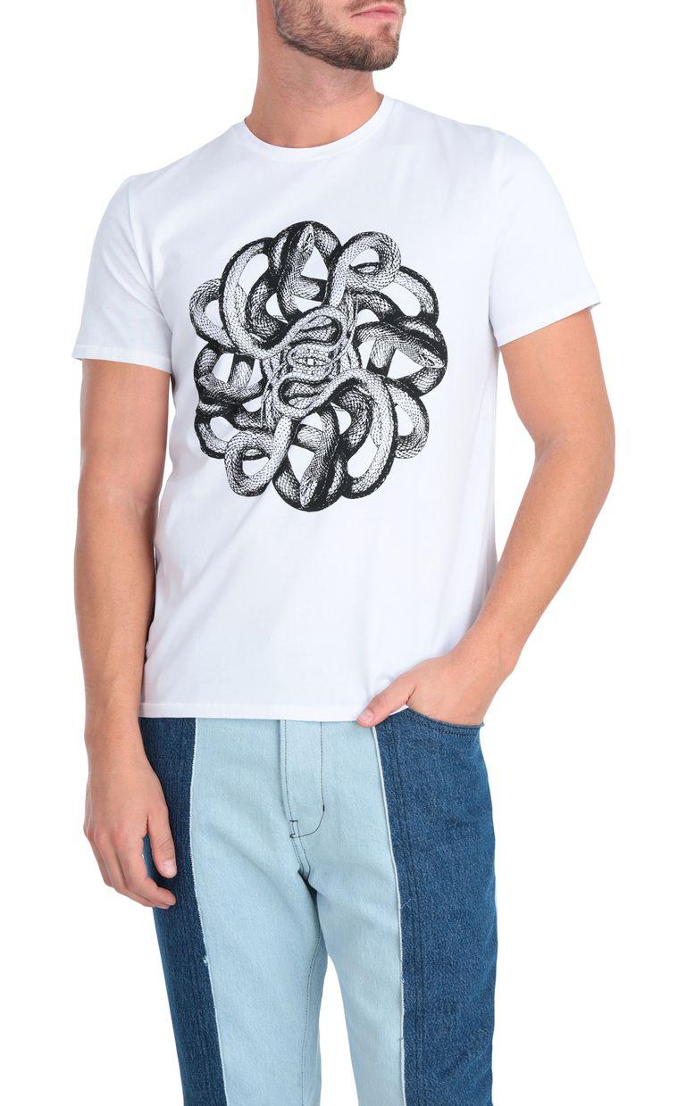 JUST CAVALLI White animal-print t-shirt Short sleeve t-shirt Man f