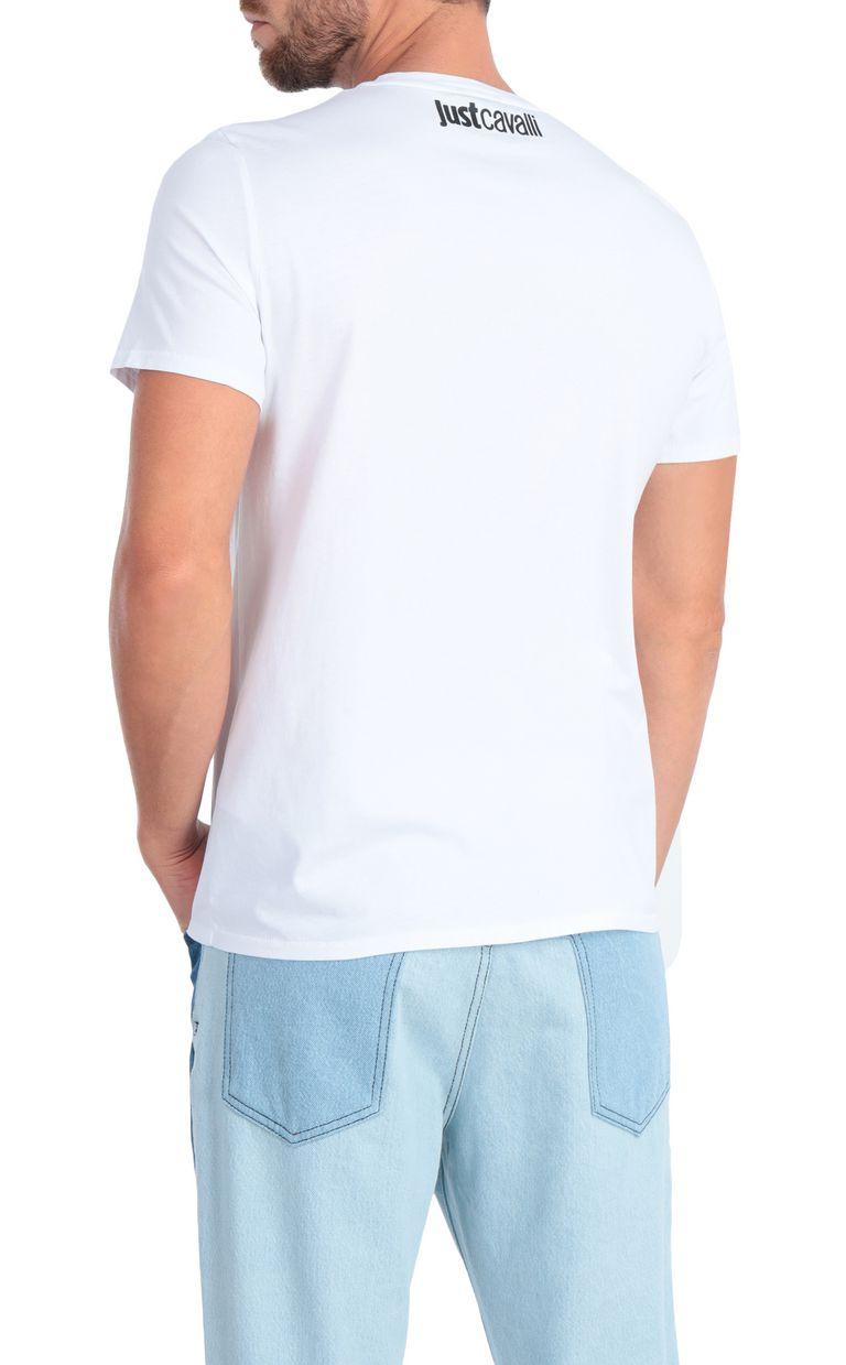 JUST CAVALLI White animal-print t-shirt Short sleeve t-shirt Man r