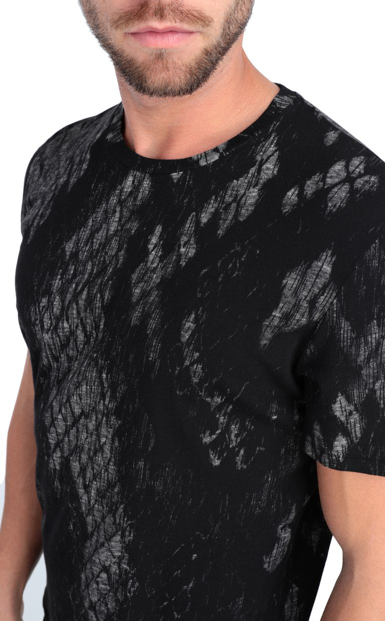 JUST CAVALLI T-shirt with python print design Short sleeve t-shirt Man e