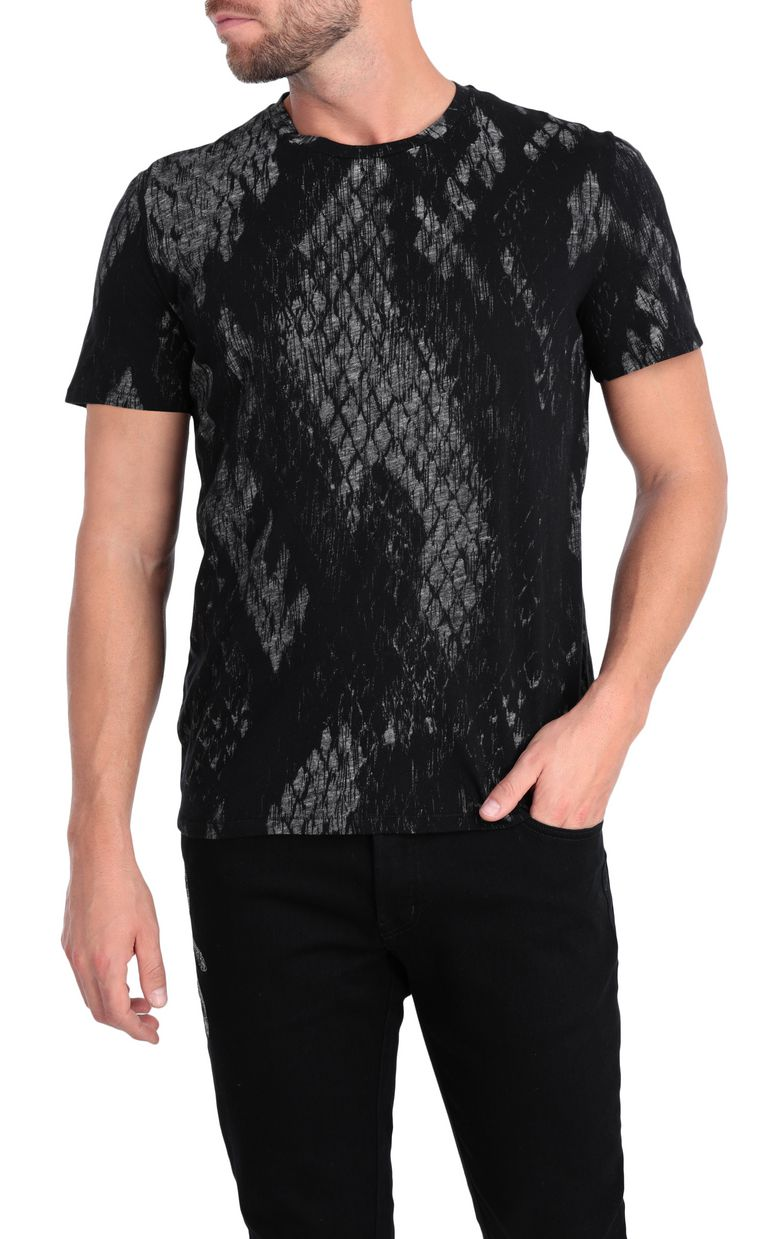 JUST CAVALLI T-shirt with python print design Short sleeve t-shirt Man f