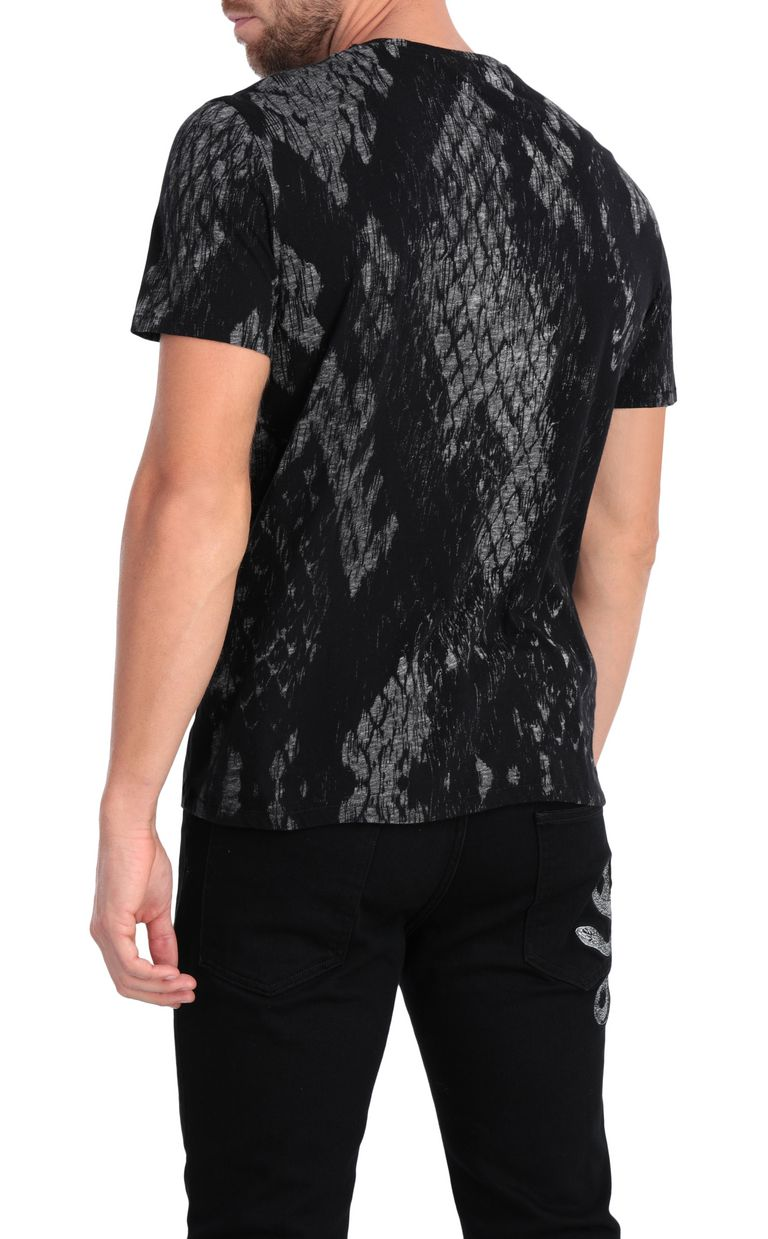 JUST CAVALLI T-shirt with python print design Short sleeve t-shirt Man r