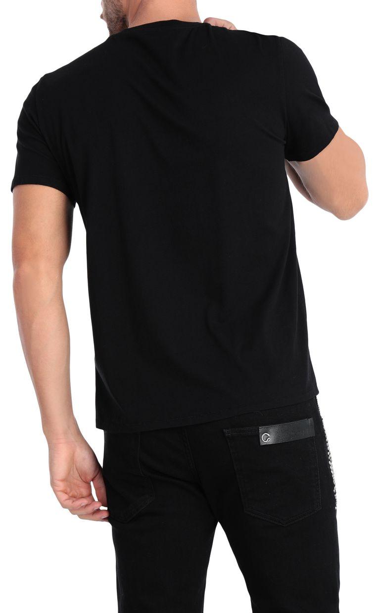 JUST CAVALLI T-shirt with sculpture print design Short sleeve t-shirt [*** pickupInStoreShippingNotGuaranteed_info ***] r