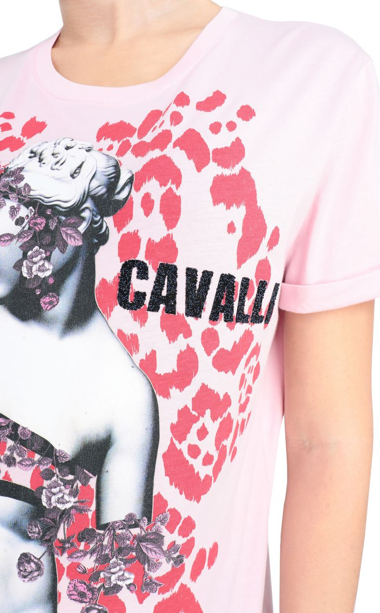 JUST CAVALLI T-shirt with Venus print design Short sleeve t-shirt [*** pickupInStoreShipping_info ***] e