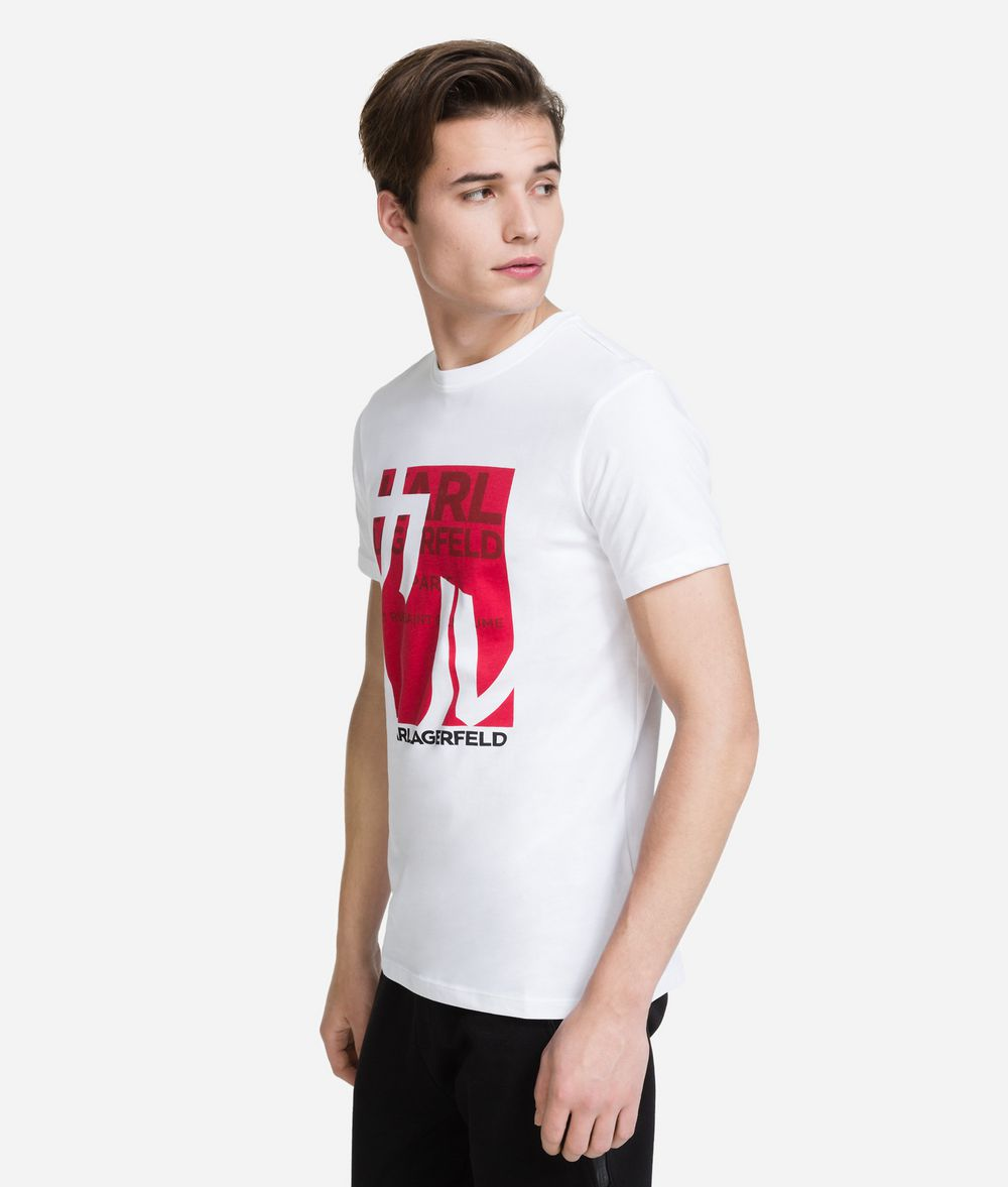 KARL LAGERFELD K/Tokyo Logo Print T-Shirt T-shirt Man d