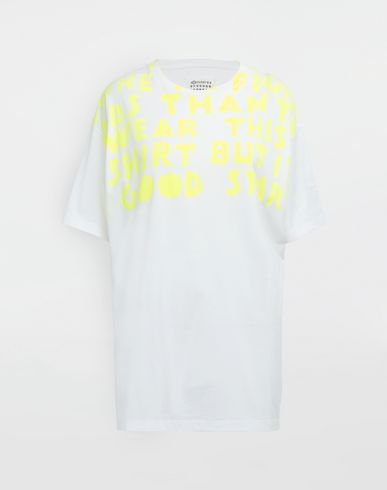MAISON MARGIELA Short sleeve t-shirt [*** pickupInStoreShipping_info ***] AIDS Charity-print jersey T-shirt f