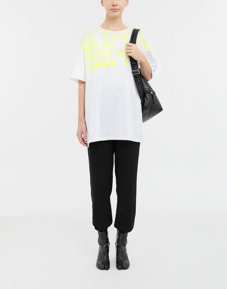 MAISON MARGIELA AIDS Charity-print jersey T-shirt Short sleeve t-shirt Woman d