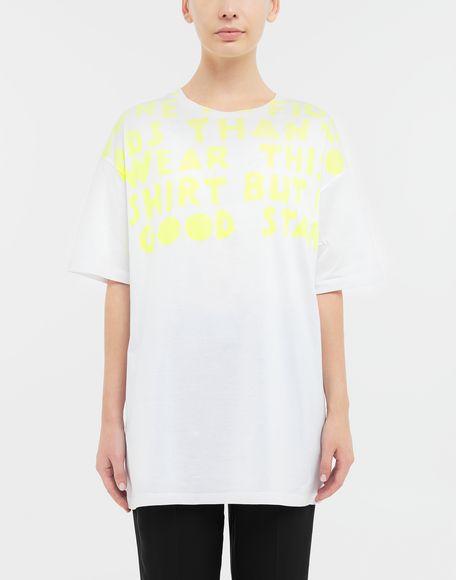 MAISON MARGIELA AIDS Charity-print jersey T-shirt Short sleeve t-shirt Woman r