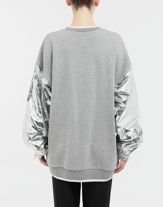 MAISON MARGIELA Silver panelled-sleeve jersey sweatshirt Sweatshirt [*** pickupInStoreShipping_info ***] e