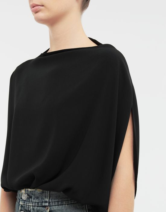 MM6 MAISON MARGIELA Draped circle top Top [*** pickupInStoreShipping_info ***] a