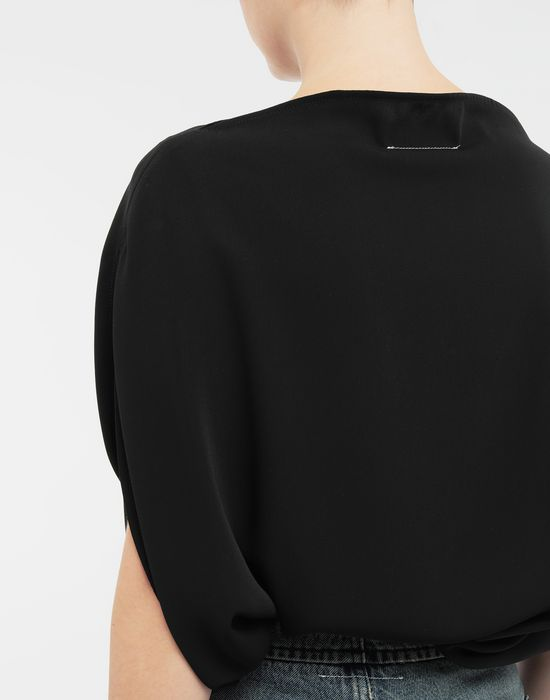 MM6 MAISON MARGIELA Draped circle top Top [*** pickupInStoreShipping_info ***] b
