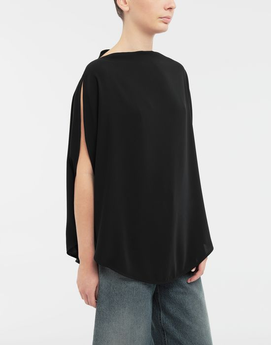 MM6 MAISON MARGIELA Draped circle top Top [*** pickupInStoreShipping_info ***] r