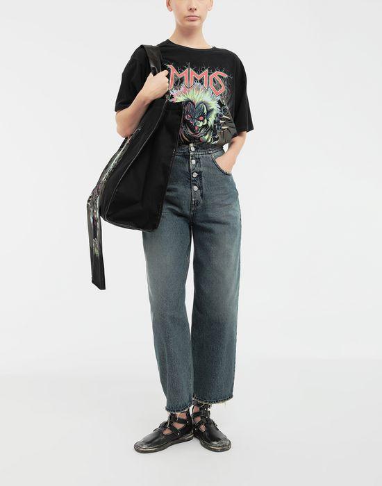 MM6 MAISON MARGIELA Zombie Cat print T-shirt Short sleeve t-shirt [*** pickupInStoreShipping_info ***] d