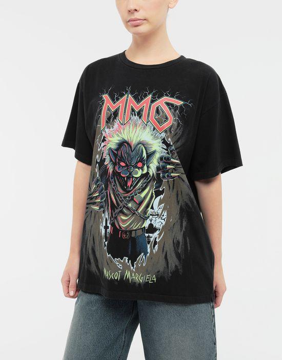 MM6 MAISON MARGIELA Zombie Cat print T-shirt Short sleeve t-shirt [*** pickupInStoreShipping_info ***] r