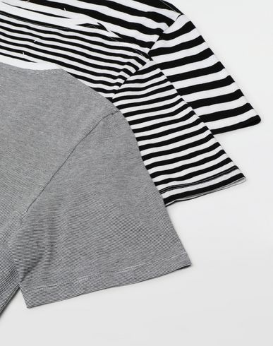 TOPS & TEES 3-pack Stereotype striped T-shirts