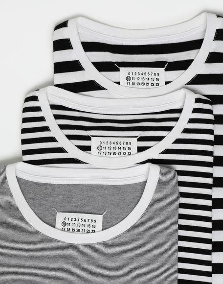 MAISON MARGIELA 3-pack Stereotype striped T-shirts Short sleeve t-shirt Man d