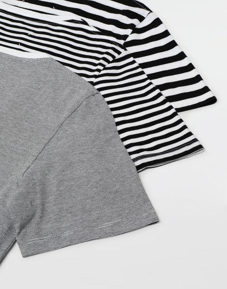 MAISON MARGIELA 3-pack Stereotype striped T-shirts Short sleeve t-shirt Man e