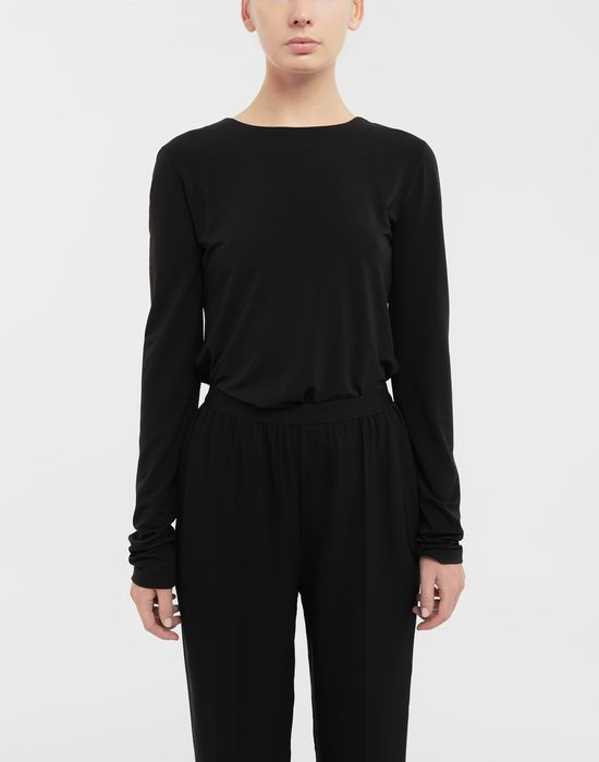 MAISON MARGIELA Ruched back jersey knit top Top [*** pickupInStoreShipping_info ***] r