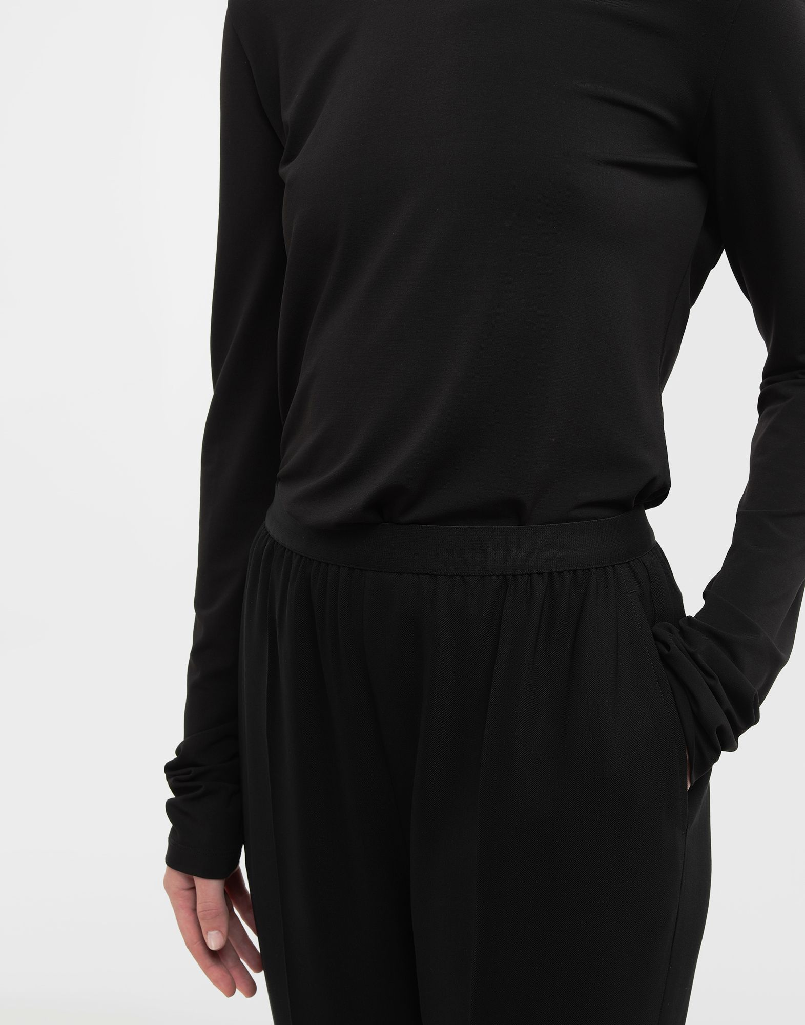 MAISON MARGIELA Ruched back jersey knit top Top Woman a
