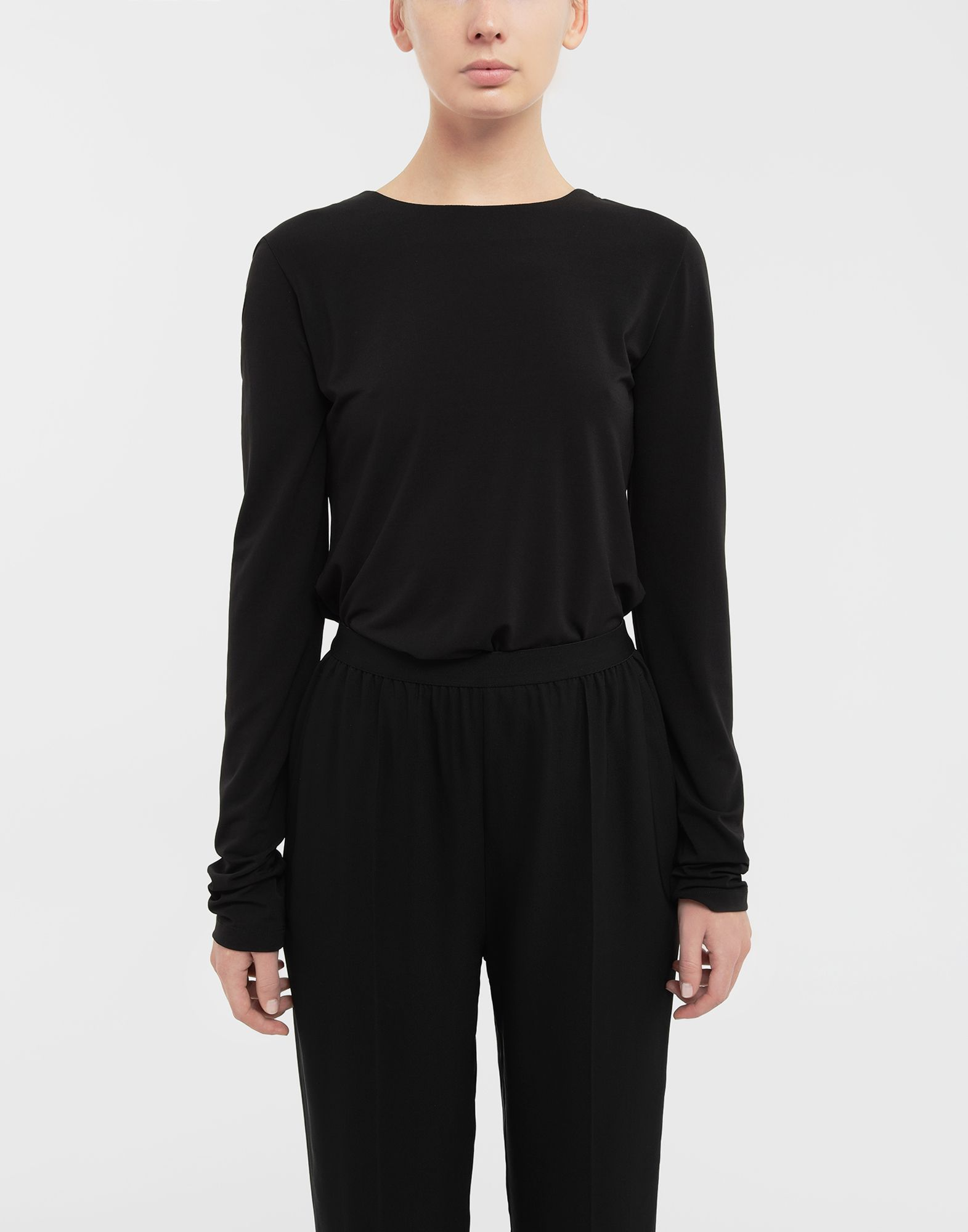 MAISON MARGIELA Ruched back jersey knit top Top Woman r
