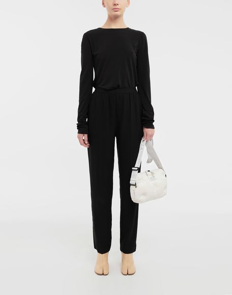 MAISON MARGIELA Ruched back jersey knit top Top Woman d