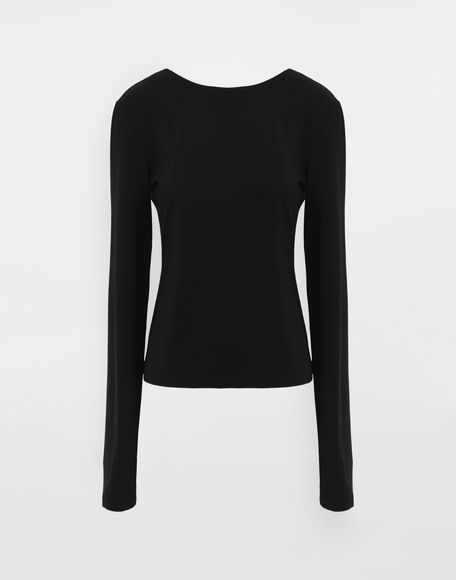 MAISON MARGIELA Ruched back jersey knit top Top Woman f
