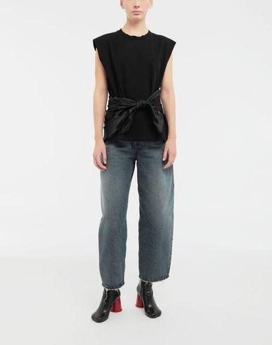 TOPS & TEES Scarf tie sleeveless top