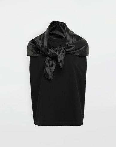 MM6 MAISON MARGIELA Top [*** pickupInStoreShipping_info ***] Top sans manches avec écharpe-cravate f