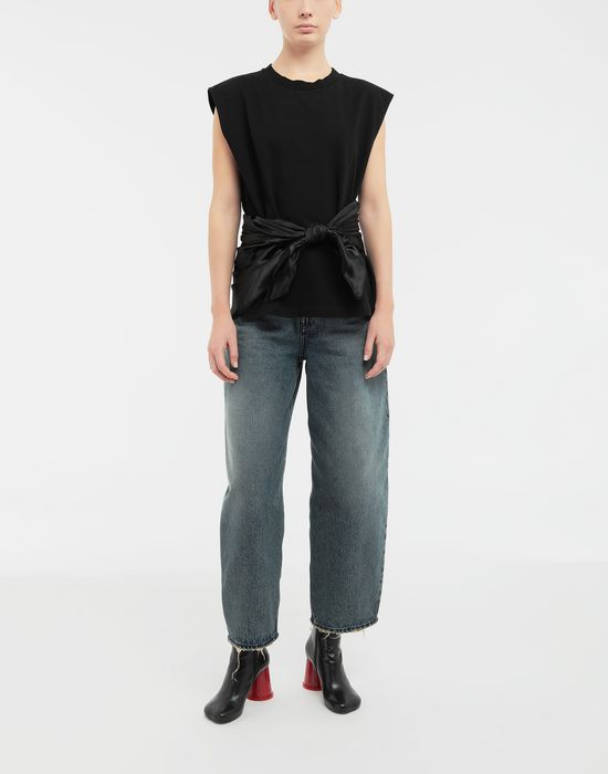MM6 MAISON MARGIELA Scarf tie sleeveless top Top [*** pickupInStoreShipping_info ***] d