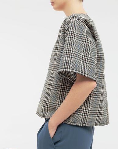 TOPS & TEES Checked wool-blend top
