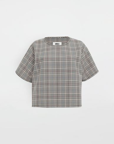 MM6 MAISON MARGIELA Checked wool-blend top Top [*** pickupInStoreShipping_info ***] f